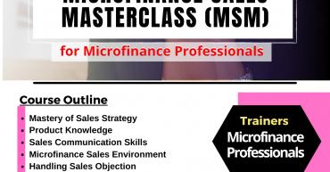 MICROFINANCE SALES MASTERCLASS